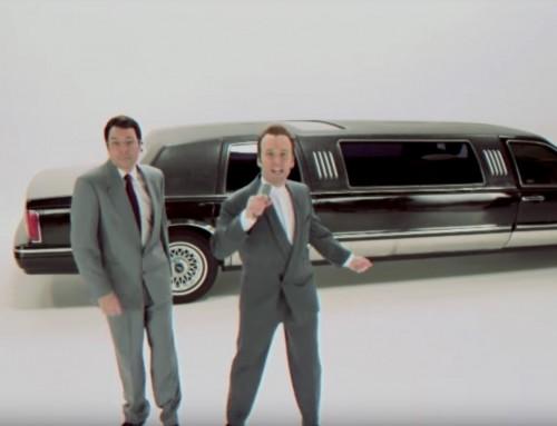 """Jimmy Fallon und Paul Rudd stellen das """"King of Wishful Thinking"""" Musikvideo nach"""