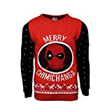 Marvel Official Deadpool Merry Chimichanga Christmas Jumper/Ugly Sweater