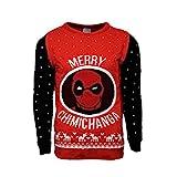 Marvel Offiziell Deadpool Merry Chimichanga Weihnachtsstrickjacke/Sweater