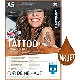 SKULLPAPER temporäre A5 Tattoo-Transferfolie FÜR DIE HAUT dermatologisch SEHR GUT getestet hautverträglich...