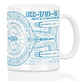 style3 NCC-1701-D Blaupause Motivtasse trek trekkie star