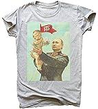 Trump and Putin Friendship Soviet Style Poster Herren T-Shirt Extra Large