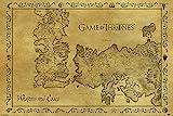 empireposter Game of Thrones - Antique Map - Größe (cm), ca. 91,5x61 - Poster, NEU -