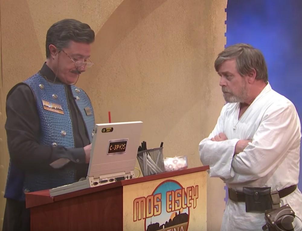 Stephen Colbert findet verlorene Szene aus Star Wars mit Skywalker