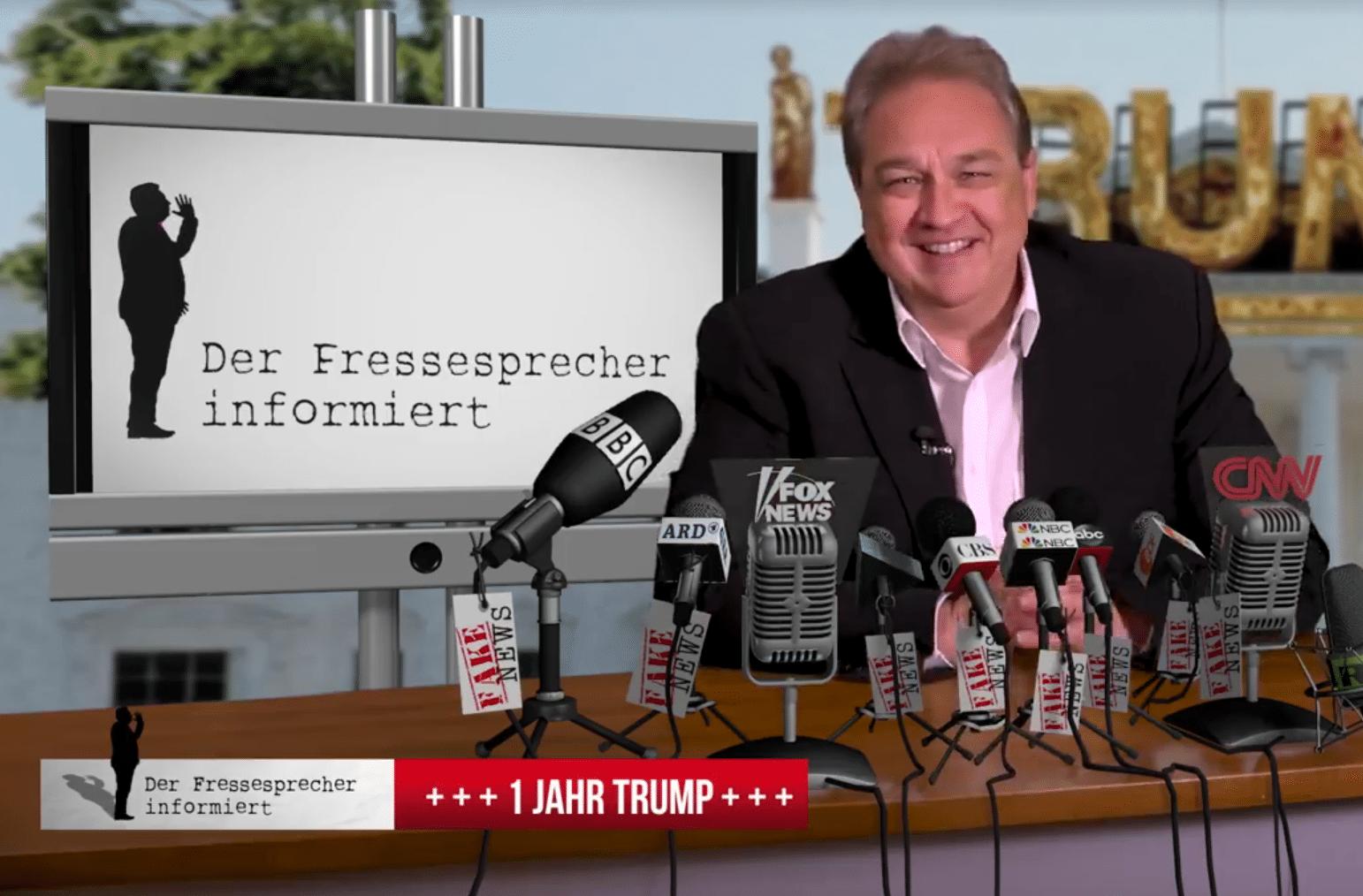 Der Fressesprecher: 1 Jahr Donald Trump