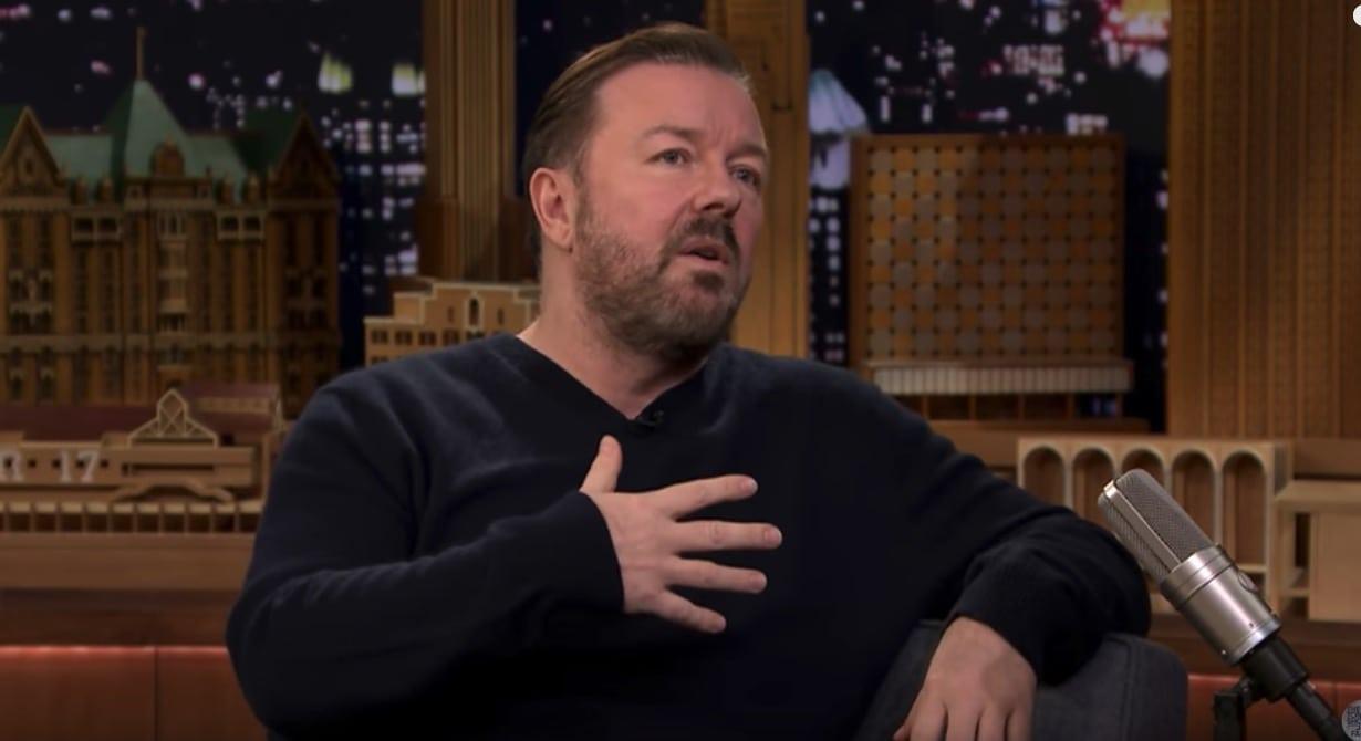 Ricky Gervais liebt es sich bei twitter mit Trollen anzulegen